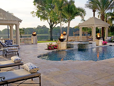 Travertine - Pool Deck